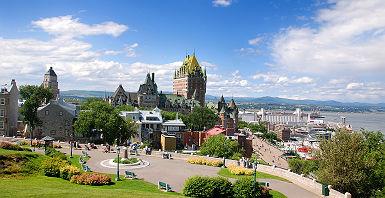 Québec - Vue sur le château de Frontenac