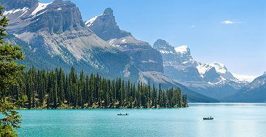 Canada - Vue sur le lac Moraine et la montagne dans le parc national de Banff