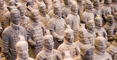 Chine - Statues de l'armée impériale de terre cuite au mausolée de l'empereur Qin