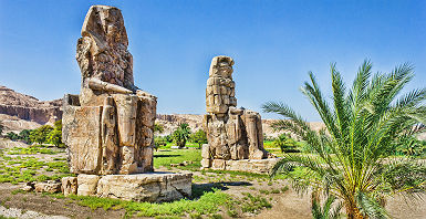 Colosses de Memnon, Louxor - Egypte