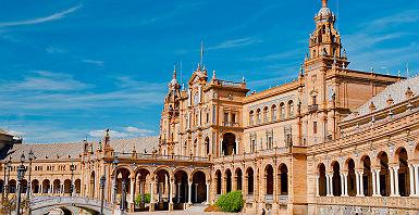 La place d'Espagne à Séville - Espagne