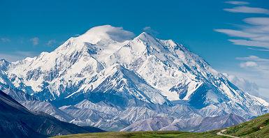 Alaska - Vue sur la montagne McKinley au parc national Denali