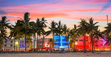 Miami Beach au coucher de soleil