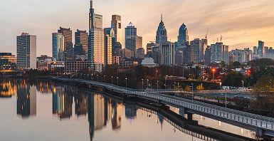 Vue sur la ville de Philadelphie - Etats-Unis