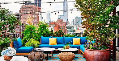 "Hôtel Sixty Soho - Espace terrasse ""cocooning"""