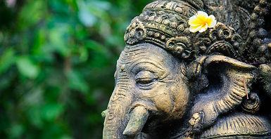 Bali - Statue de Ganesha dans un temple d'Ubud