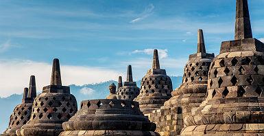 Indonésie - Temple de Borobudur à Yogyakarta
