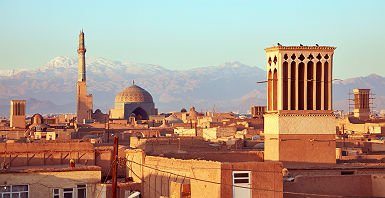 Iran - Vue sur la vieille ville de Yazd
