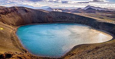 Lac de cratere Viti, Krafla, Islande