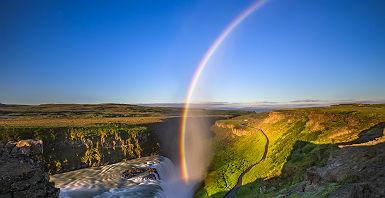 Cascade de Gullfoss sous un arc-en-ciel - Islande