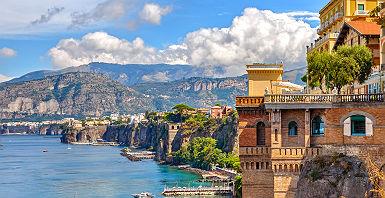Campanie - Vue sur la côte de Sorrento
