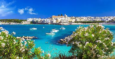 Pouilles - Vue sur la baie d'Otranto et ses eaux émeraudes