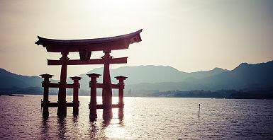 Japon - Torii dans la mer à Hiroshima