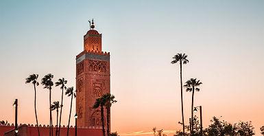 Marrakech au coucher du soleil