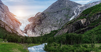 Glacier Briksdal - Norvège