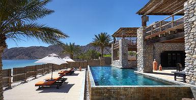 Hôtel Six Senses Zighy Bay - Espace piscine