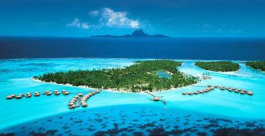 Polynésie - Vue sur le Tahaa island resort & spa