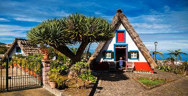 Île Madère - Maison traditionnelle colorée