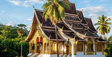 Laos - Façade du palais royal de Luang Prabang