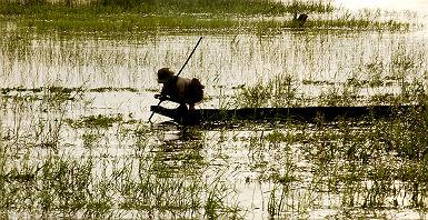 Pêcheur au Lak Lake - Vietnam