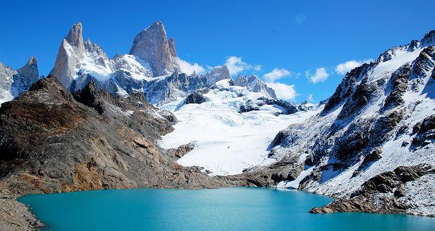 Argentine - Vue sur la lagune de Los Tres Trek à El Chalten