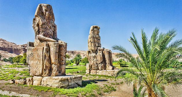 Colosses de Memnon, Louxor - Egypte