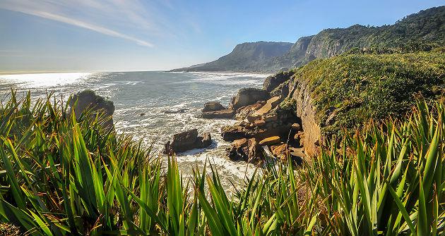 Nouvelle Zélande - Falaises en bord de mer à Punakaiki