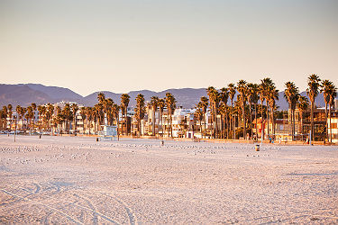 Santa Monica Beach , Los Angeles en Californie - Etats Unis