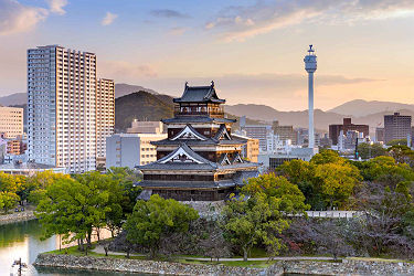 /images/naga/Hiroshima, Japan cityscape at the castle, Japon.